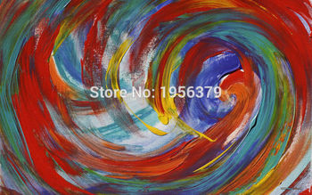 Large Size Low Price 100% Pure Hand-painted Abstract Wave Decorated Multi-function Ideological Leap Oil Painting on Canvas Craft image