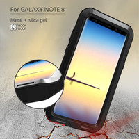 For Note 8 Aluminum Metal Case For Samsung Galaxy Note 8 Cover Powerful Armor Shockproof Heavy