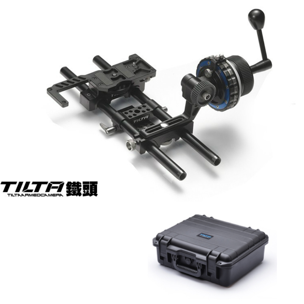 Tilta FF-T03 Damped Follow Focus + Quick release Baseplate + Case for DSLR HDV Camera RIG 5D2 5D3 GH3 D800 BMCC C300 C500 lanparte luxury bmcc 03 top handle cage v mount vb 150 battery quick release shoulder support baseplate a b follow focus