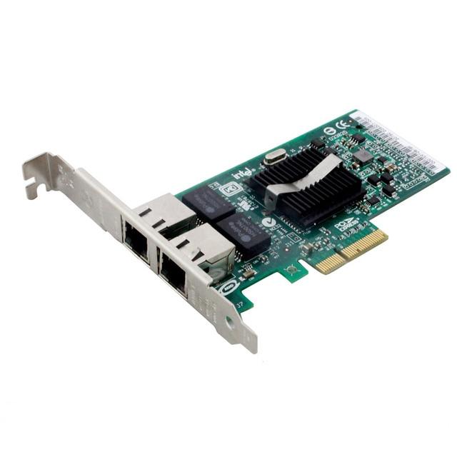 Para intel 82571eb 2-port adaptador de servidor expi9402pt pro/1000 pt pcie placa de rede