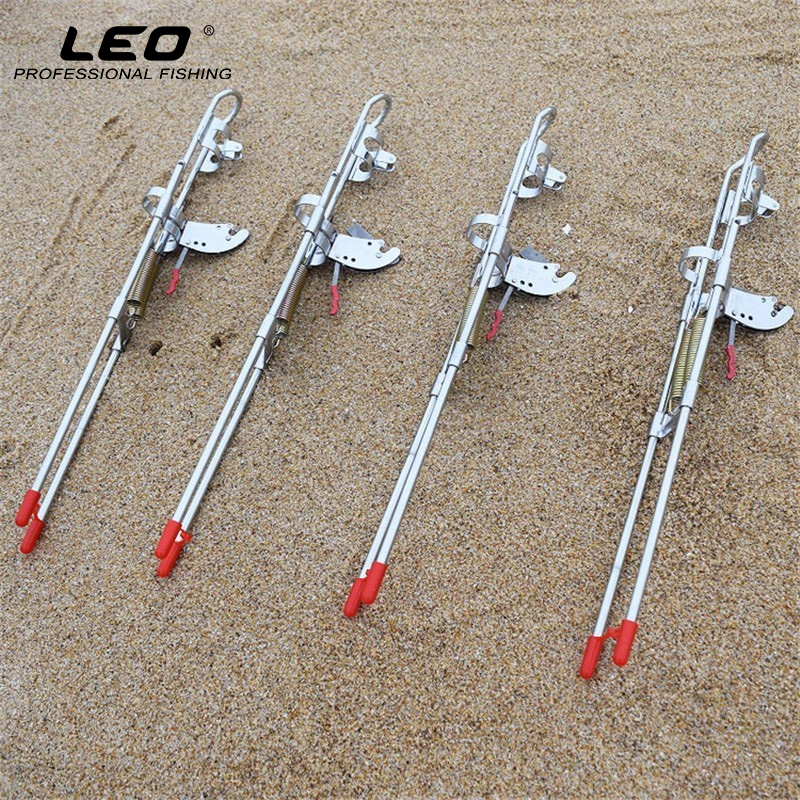 LEO High Strength Automatic Fishing Rod Holder Upgraded Double Spring Thickened Steel Automatic Fishing Pole Holder Fishing Tool automatic double spring angle fish pole tackle bracket fishing bracket rod holder anti rust steel tools fishing accessories