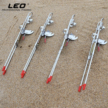 LEO High Strength Automatic Fishing Rod Holder Upgraded Double Spring Thickened Steel Automatic Fishing Pole Holder Fishing Tool
