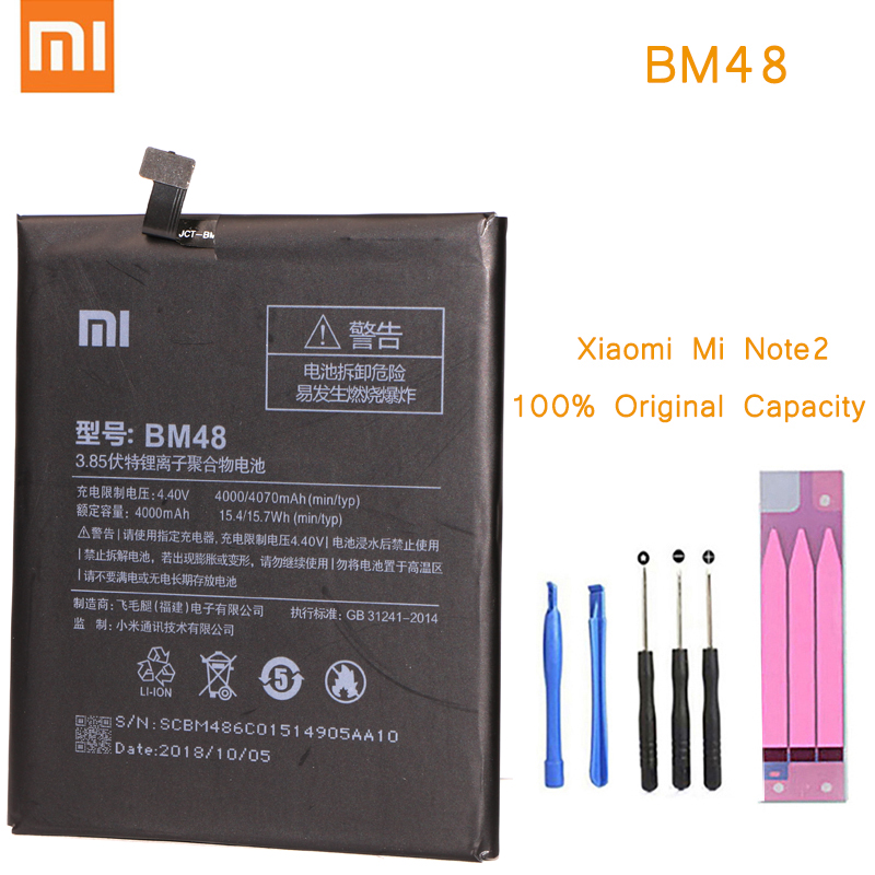 Xiaomi Phone-Battery Mi-Note Original 2-Bm48-Batteries For With Retail-Package