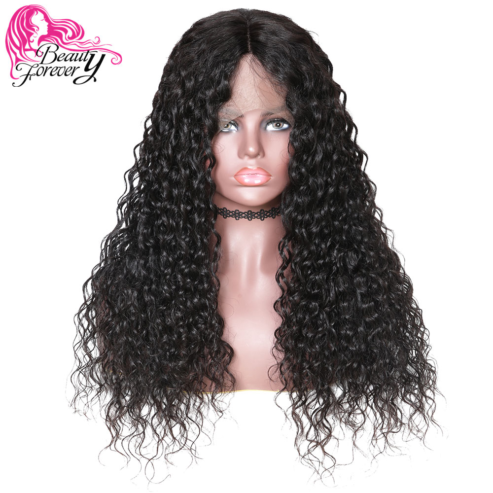 BeautyForever Malaysian Water Wave Hair 360 Lace Front Wigs Half Hand Tied 100 Remy Human Hair