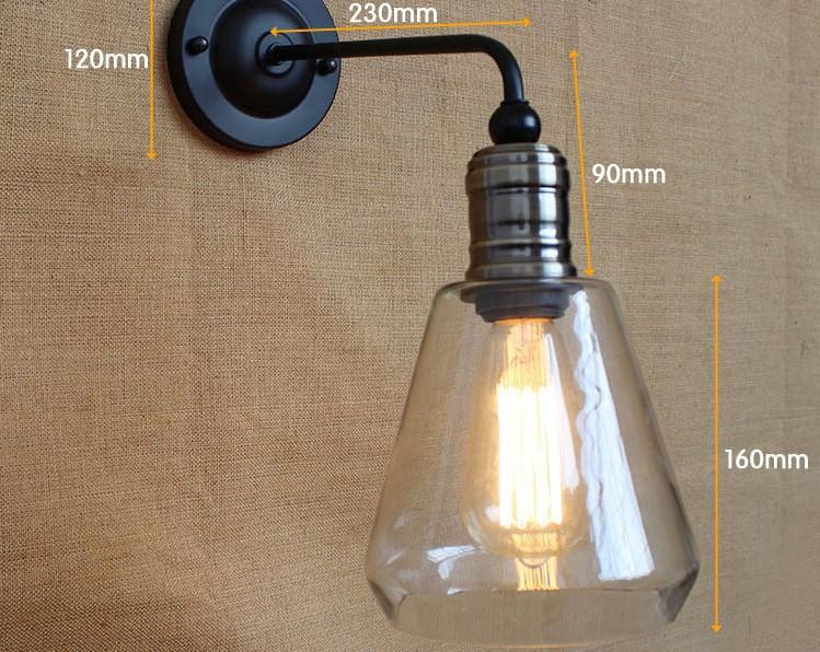 Edison applique murale 60 w style rétro loft lampe industrielle