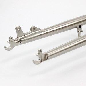 "Image 4 - SILVEROCK   MTB Bike Rigid Fork 27.5"" 26"" 29er Reynolds 520 Steel CX Cyclocross Bike Fork Disc V Brake Rustproof Bicycle Parts"