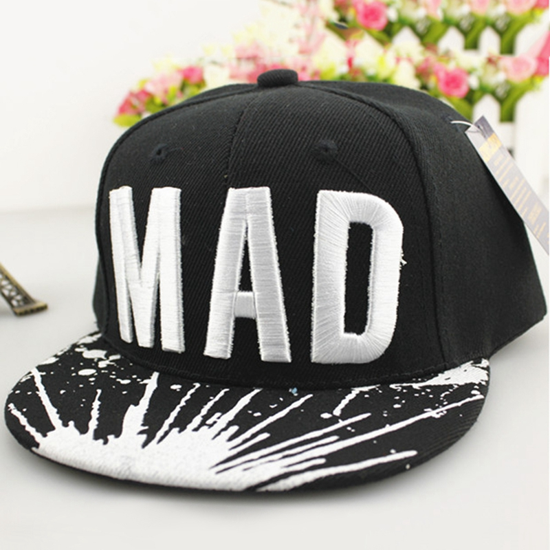 2019 Trend Hat Snapback   Cap   Children Embroidery MAD or S Letter   Baseball     Caps   Kid Boys And Girls Flat Hip Hop   Cap   Brand New