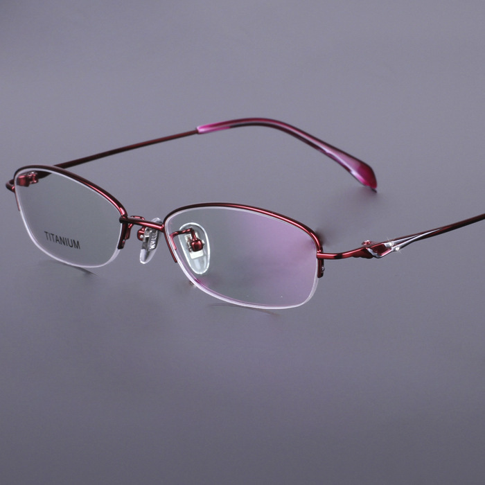 100 pure titan eyeglasses red pink purple top quality gafas women titanium glasses frame