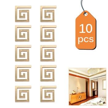 50/100/200/500pcs Building Border Acrylic Mirror Sticker Wall Art Home DIY Decoration Mirror Wall Stickers Home Decor 48*48mm