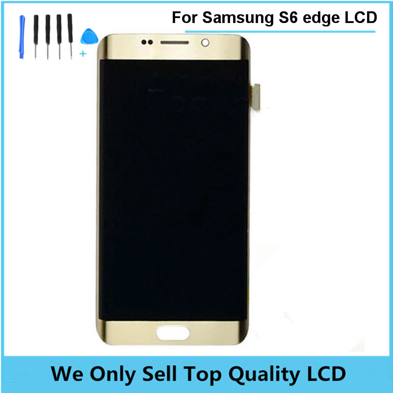 Original For SAMSUNG GALAXY S6 EDGE G925F G925A G925T G925V LCD Display Touch Screen Digitizer Assembly for Samsung S6 Edge factory price lcd screen for samsung galaxy s6 edge lcd display touch screen digitizer g925f g925s g925p g925a free shipping