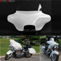 Detachable Motorcycles Headlight Shades Batwing Fairing Windshield 6x9 Speakers for Harley Road King FLHRS FLHR CVO 1994 2013