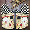 1 Pair Oven Mitts Chief Chef Design Oven Gloves Effectively Pot Holder Insulated Gloves Kitchen Ware
