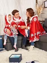 Christmas parent-child costume European and American explosions Little Red Riding Hood shawl