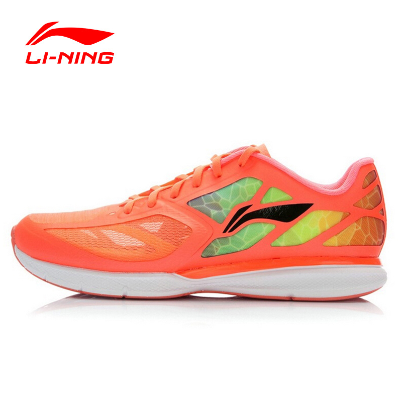 Li-Ning Running Shoes Women Outdoor Fabric Vamp Breathable Lace Up Cushioning DMX Light Sport Shoes ARBJ016 XYP049 original li ning men professional basketball shoes