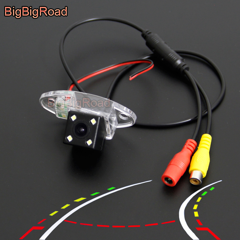 BigBigRoad Car Intelligent Dynamic Trajectory Tracks Rear View Backup Camera For Buick Enclave <font><b>2008</b></font> - 2016 For GMC Yukon <font><b>Tahoe</b></font> image