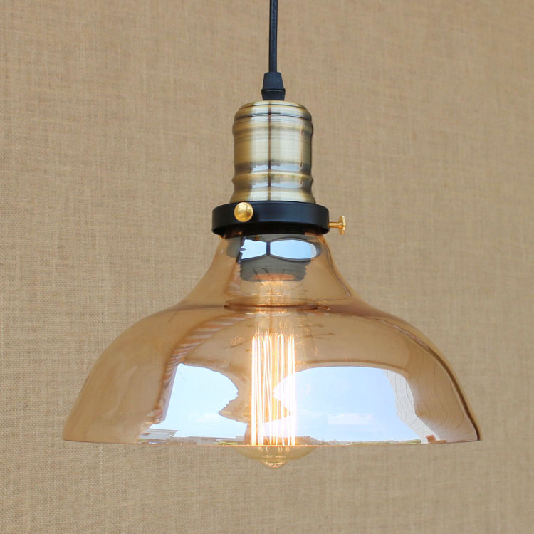 Edison Style Loft Industrial Pendant Lighting Bar Glass Lampshade Retro Vintage Pendant Lights Hang Lamp Lampara Colgantes iwhd 60w retro loft style vintage lamp industrial pendant lighting with metal lampshade edison lampara colgante