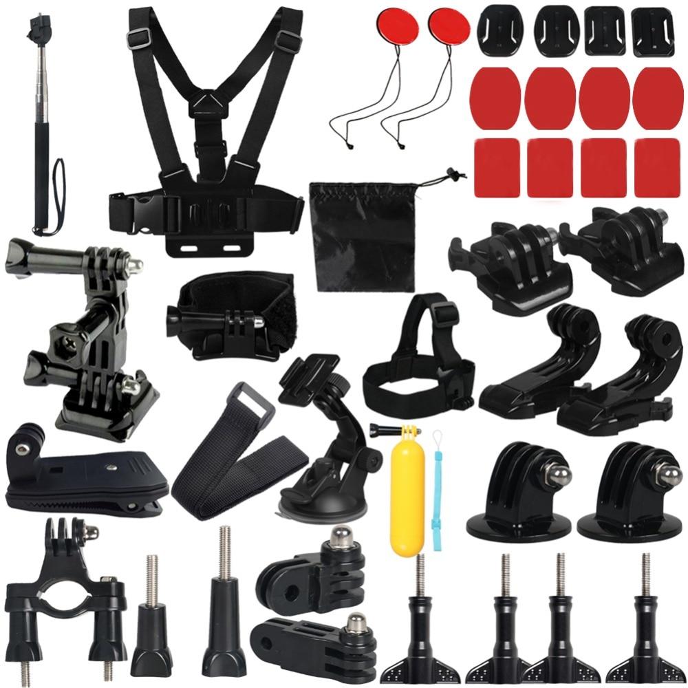17 en 1 Action caméra accessoires Set trépied monopode tête poitrine sangle de montage pour GoPro Hero 6 4 SJCAM SJ7 Xiaomi Yi 4 K 2 Eken H9