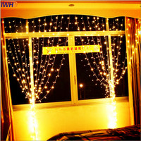IWHD 10X3M Garland LED Cristmas Fairy Lights 110/220V New Year Wedding Decoration LED Curtain Lights Christmas Garlands