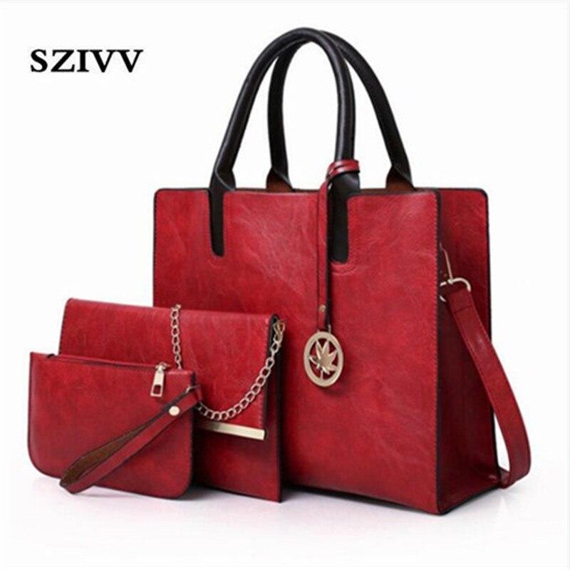 1aa39f0ea2238 pink Große Tote Umhängetasche Black gray Set Schulter Frauen satz Tasche  Leder brown 3 Teile red Taschen Damen Handtasche f7vYybg6
