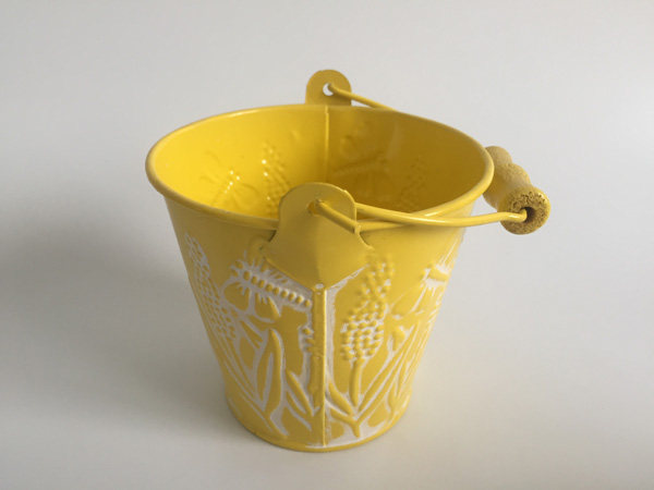 10PCS/LOT Wholesale Mini Small Rustic Metal Garden Pail Bucket Tin Box Iron  Pots Corn Pattern Yellow