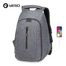 YESO USB Charging Backpack For Men Large Capacity  Multifunc