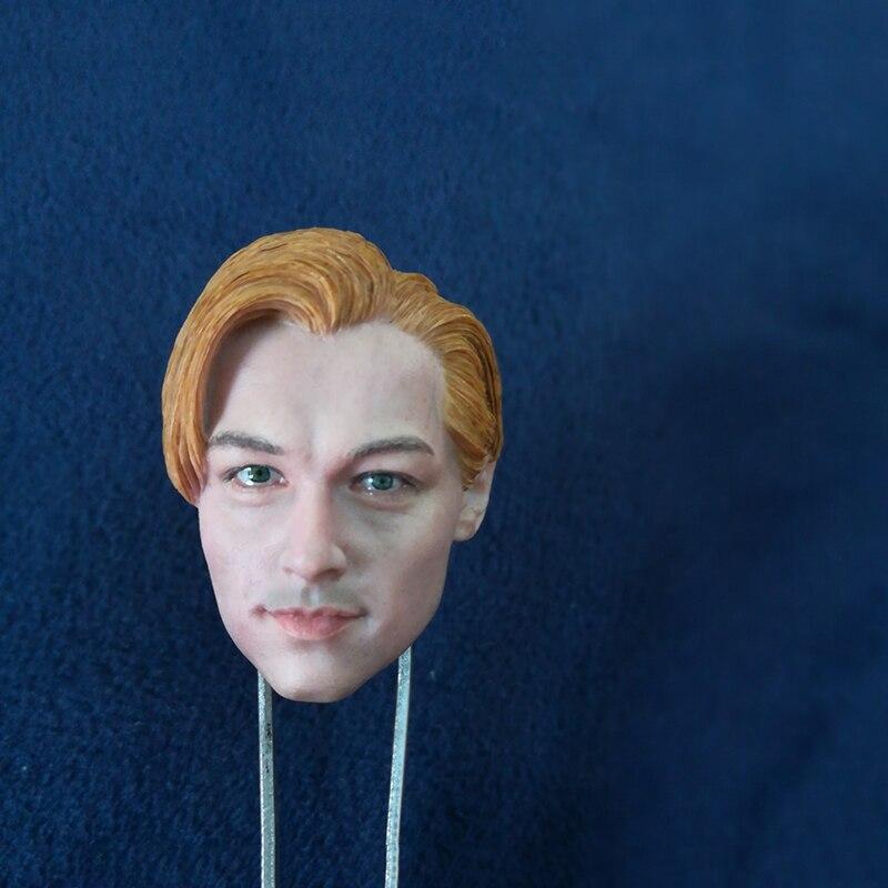 1/6 Leonardo DiCaprio Head Sculpt for 12'' Male Figures Accessories 1 6 scale leonardo dicaprio head sculpt closed eyes version for 12 male bodies figures
