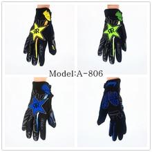 Rockst Мотокросс перчатки Велоспорт Езда Велосипед Спорт Горный Велосипед Гонке Мотоцикл Полный Перчатки Пальцев A806, M, L, XL