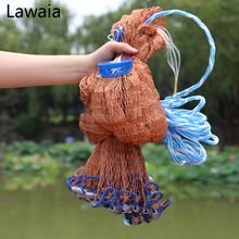 Lawaia Fishing Nets Lead Casting Net Lead Multifilament Fishing Net Diameter 2.4-4.2m Hand Throwing Fishing Network lawaia casting net falling hand throwing net fishing nets diamter 2 4m 4 2m high quality sports korean hand throw fishing net