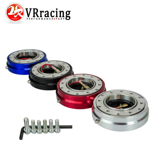 VR RACING - Thin Version 6 Hole Steering Wheel Quick Release Hub Adapter Snap Off Boss kit VR3858 forever sharp a01 56p steering wheel adapter 5 6 hole billet alum