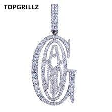 TOPGRILLZ хип хоп рэппер Tyga G Подвеска со льдом микро паве CZ дизайн с большим зажимом для мужчин ювелирные изделия подарок