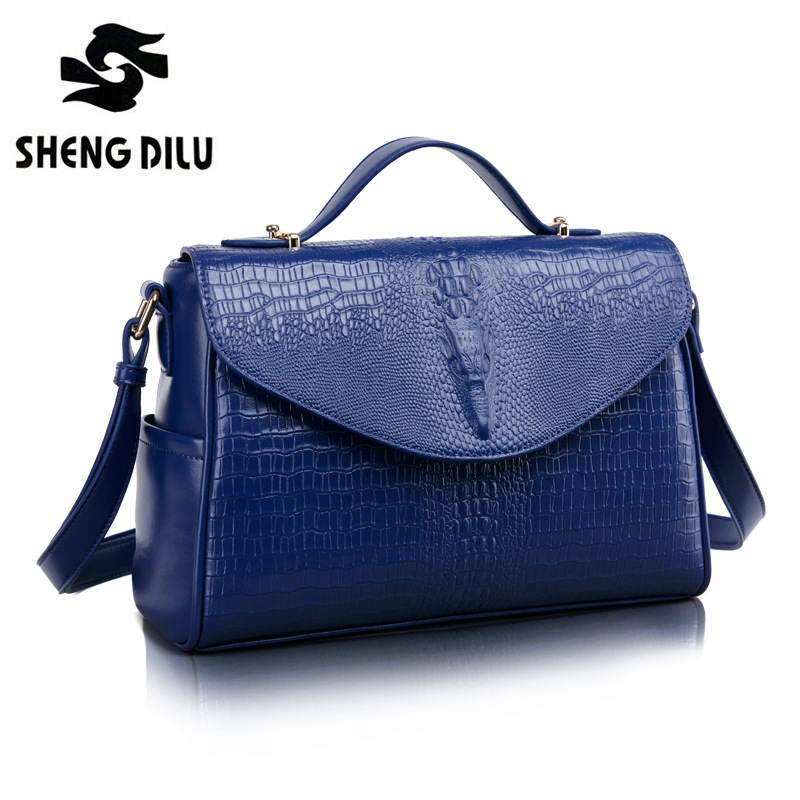 ShengDiLu Real Cow Leather Ladies HandBags Women Genuine Leather bags Totes Messenger Bags Hign Quality Designer Luxury Bags niuboa real cow leather ladies handbags women genuine leather bags totes embossed flower hign quality designer luxury brand bag