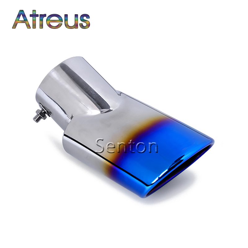 Atreus 1PCS High quality Stainless steel Car exhaust tip cover For HONDA CRV CR-V Accessories For Honda CRV 2012 2013 2014 2015 accessories fit for honda crv cr v 2012 2013 2014 2015 chrome side door body molding trim cover line garnish protector