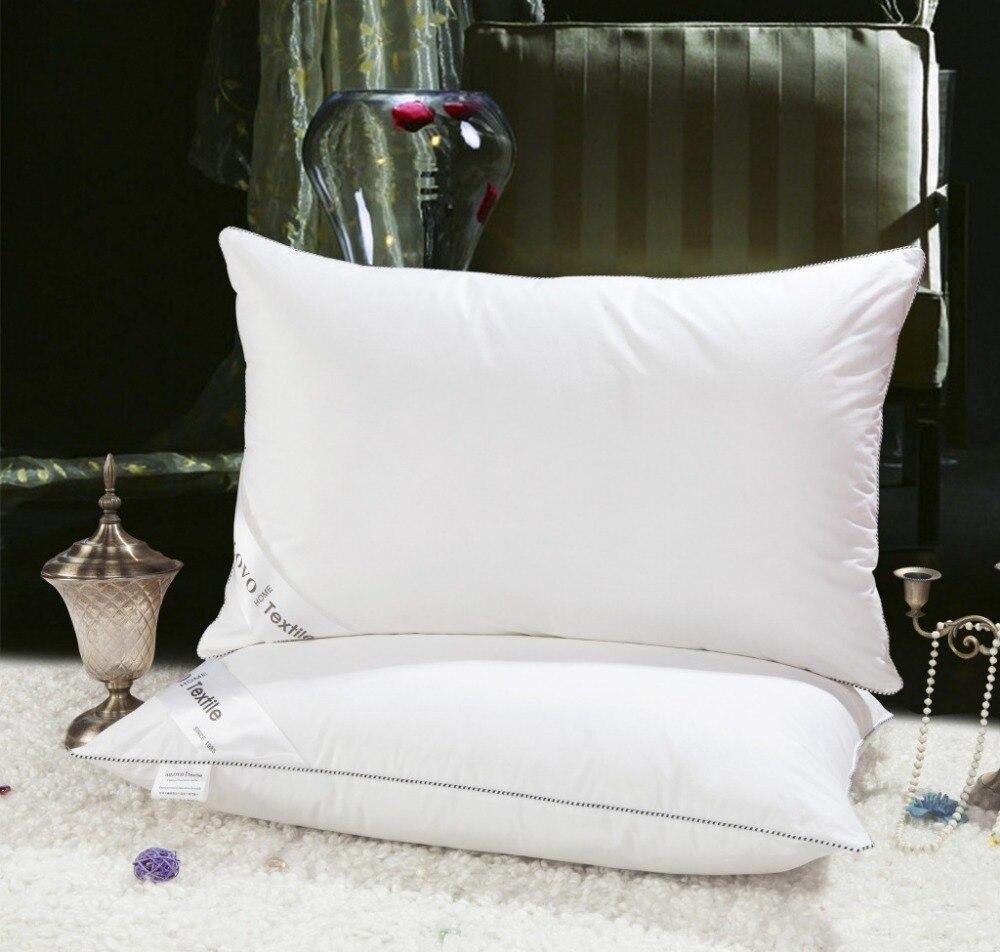 Accueil Textile Oreiller de Couchage 100% duvet d'oie lumière blanc Oreiller Zéro Pression Mémoire Oreiller de Santé de Cou 48*74 cm coton oreiller