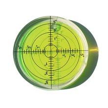 Universal Level Bubble Diameter 66mm Height 10mm Degree Mark Surface Round Circular Spirit Level 1PCS