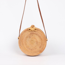 Ins Style Popular 2019 Round Straw Bags Women Rattan Bag Handmade Woven  Summer Beach Cross Body Circle Bohemia Handbag Bali