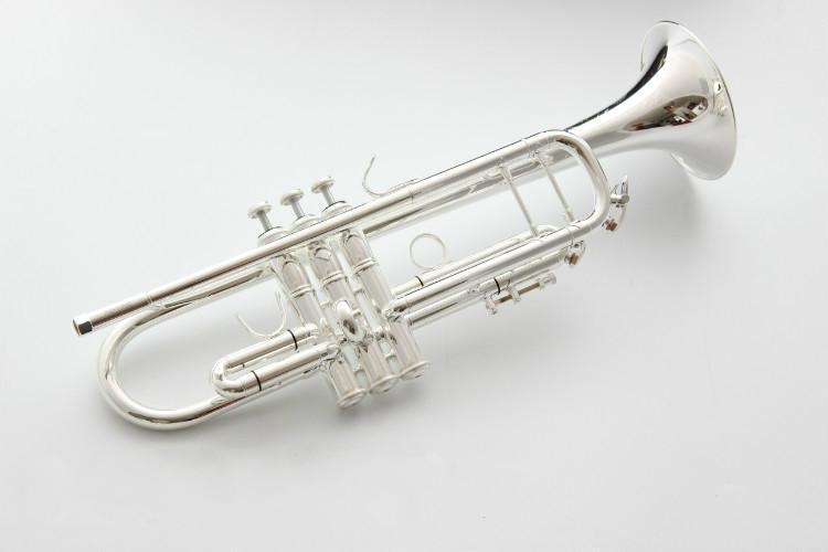 Bach AB 190S Латунь Bb труба высокого качества Посеребренные профессиональные музыкальные инструменты с футляром аксессуары - 5