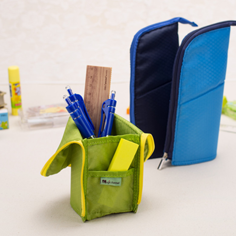 2015 New korea multifunction pencil case stand pencil bag school supplies stationery school pencil case for girls boys new leather pencil case bag for school boys girls vintage pencil case box stationery products supplies as gift for student