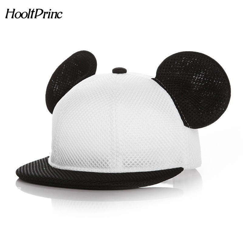 2018 children Lovely Mickey Big Ears Baseball Cap Girls Cute Mouse Hip Hop Caps Casual Summer Mesh Sun Hats Casquette Gift cntang brand summer lace hat cotton baseball cap for women breathable mesh girls snapback hip hop fashion female caps adjustable