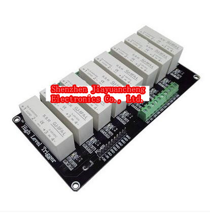 8 channel solid state relay module 5A high level trigger, 3-32V power supply with trigger voltage 8 channel 5a high level trigger solid state relay module board 3 32v power supply and trigger voltage