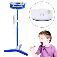Surwish 2018 Summer Kids Karaoke Machine Stand Microphones Adjustable Music Toy With Bluetooth For Singing Upgrade Type
