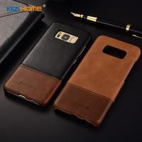 Kezihome For Samsung Galaxy S8 Case Genuine Leather Hard Back Cover Case For Samsung Galaxy S8