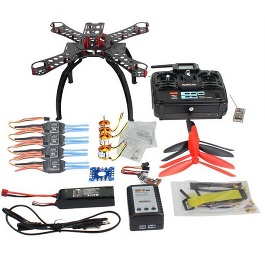 F14892-F DIY RC Drone Quadcopter RTF X4M360L Frame Kit with QQ Super flight control Motor ESC flysky FS-i6 Transmitter Battery f07218 d diy drone quadcopter ufo arf qq super flight control motors battery esc motor welded