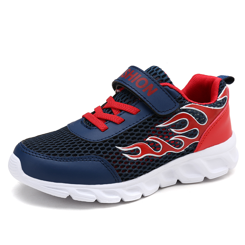 Hot Sale Kids Causal Shoes Mesh Breathable Sneakers Running Shoes For Boys Sport Autumn Big Children Shoes for Student T03