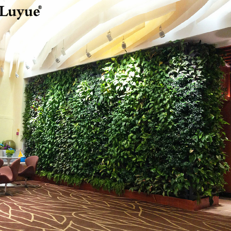 Luyue Plant Wall Artificial Boxwood Hedge Garden Backyard