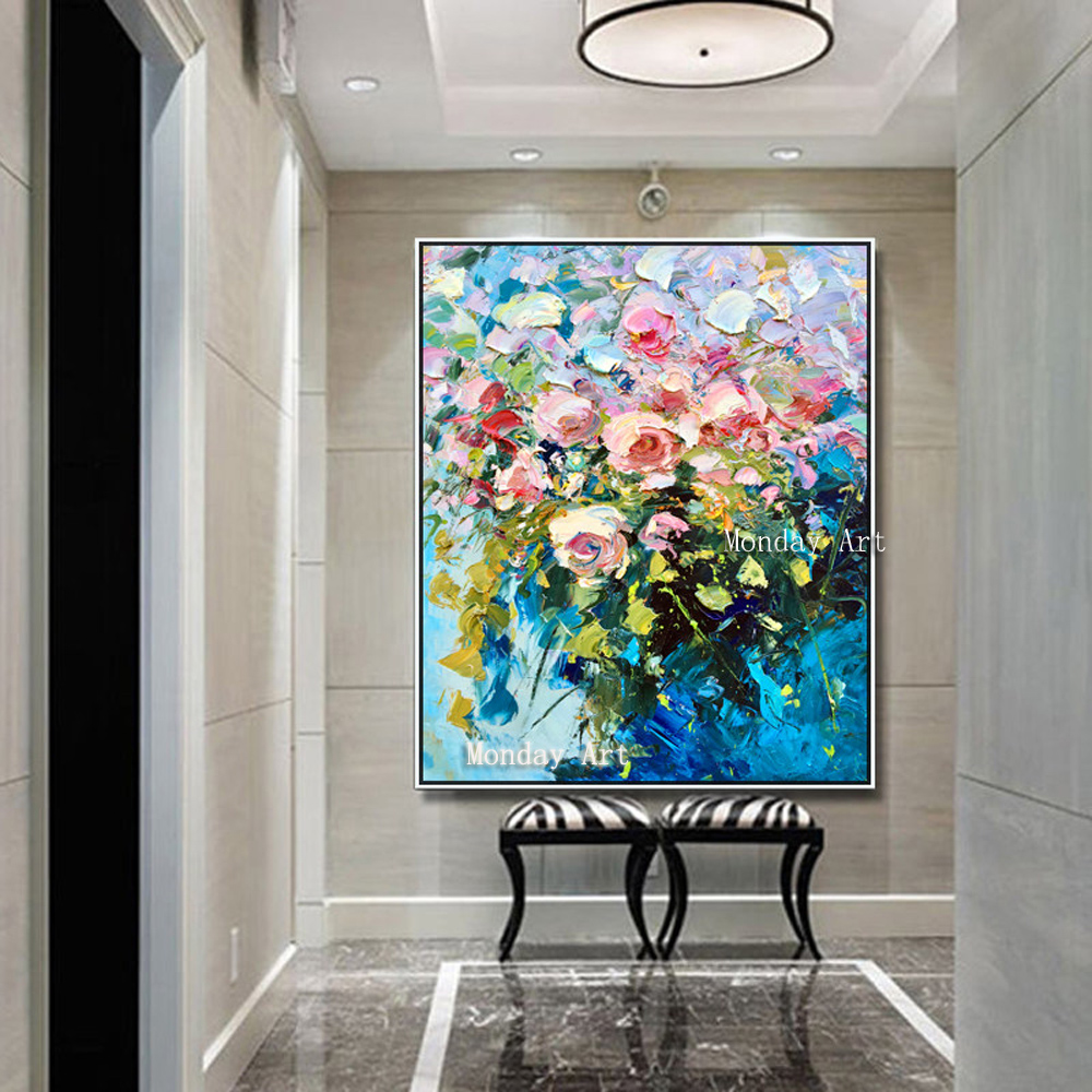 100-Hand-Painted-Colorful-Flowers-Art-Oil-Painting-On-Canvas-Wall-Art-Wall-Adornment-Pictures-Painting (1)