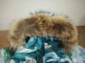 子供冬ジャケットフード付き雪の摩耗暖かい上着リアルタヌキの毛皮の襟 Modis 子供服ダウンコート Y1663