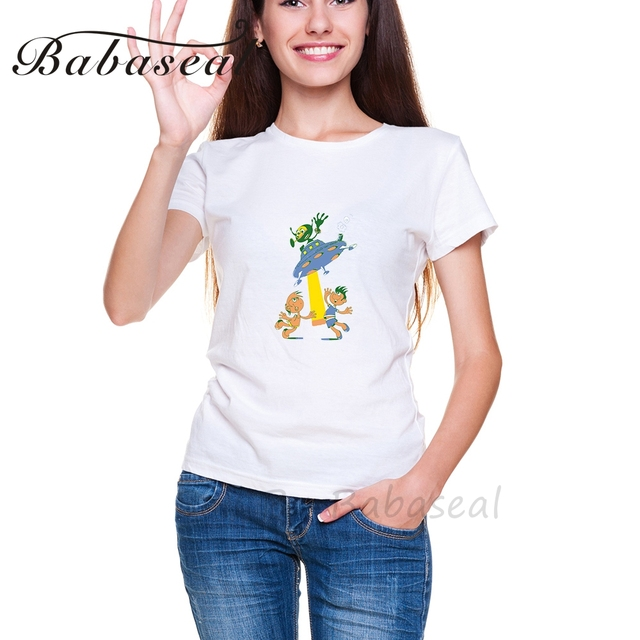babaseal brand plus size children and alient shirt hipster