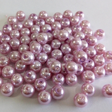 20pcs/lot New Arrival 4/6/8/10mm Imitation pearl Glass Bead Fashion Round Spacer Beads(China)