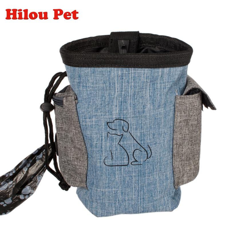Pet Dog Treat Pouch Dog Training Treat Bags Portable Detachable Doggie Pet Feed Pocket Pouch Puppy Snack Reward Waist Bag