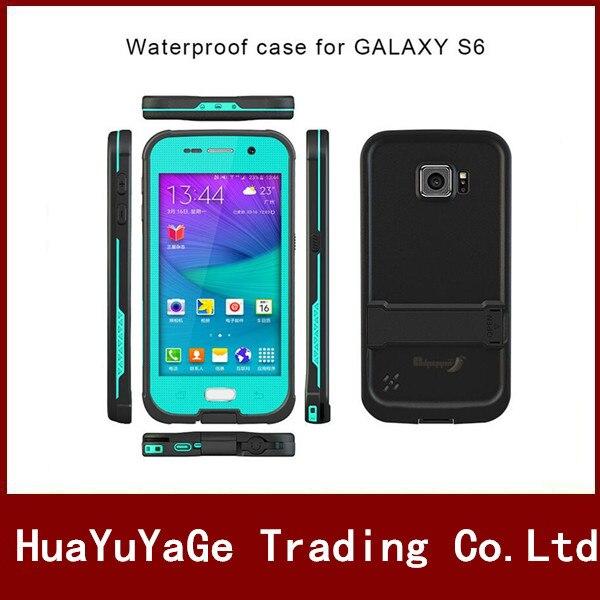 imágenes para Cajas del teléfono Para la Galaxia S6 Original Redpepper Cubierta a prueba de choques impermeable Del caso Del Soporte con Pata de Cabra para Samsung Galaxy S6